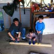 Kipa Nathan And Noah Working On Sign Frame